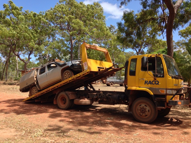 Dual Cab Ute on Tow Truck